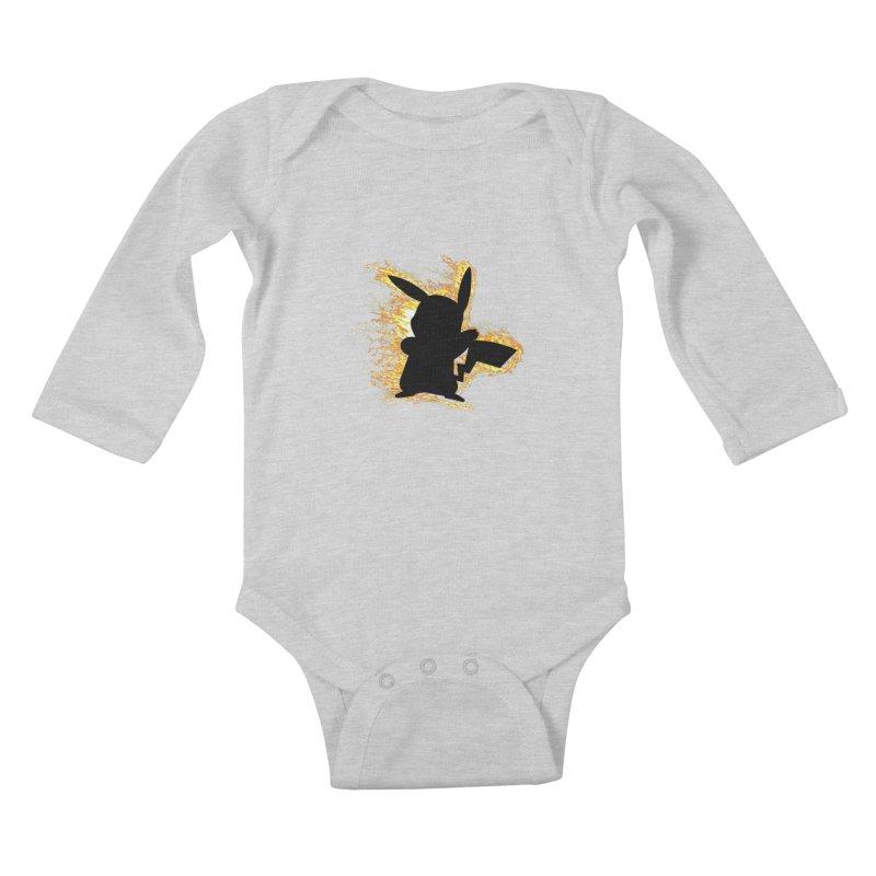 ThunderShock Kids Baby Longsleeve Bodysuit by daniac's Artist Shop
