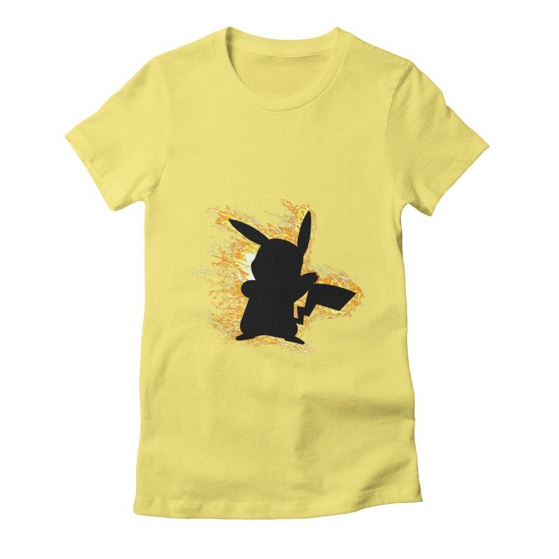 ThunderShock Women's Fitted T-Shirt by daniac's Artist Shop