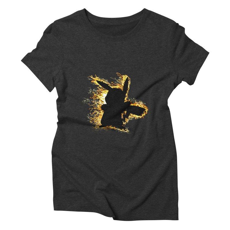 ThunderShock Women's Triblend T-Shirt by daniac's Artist Shop