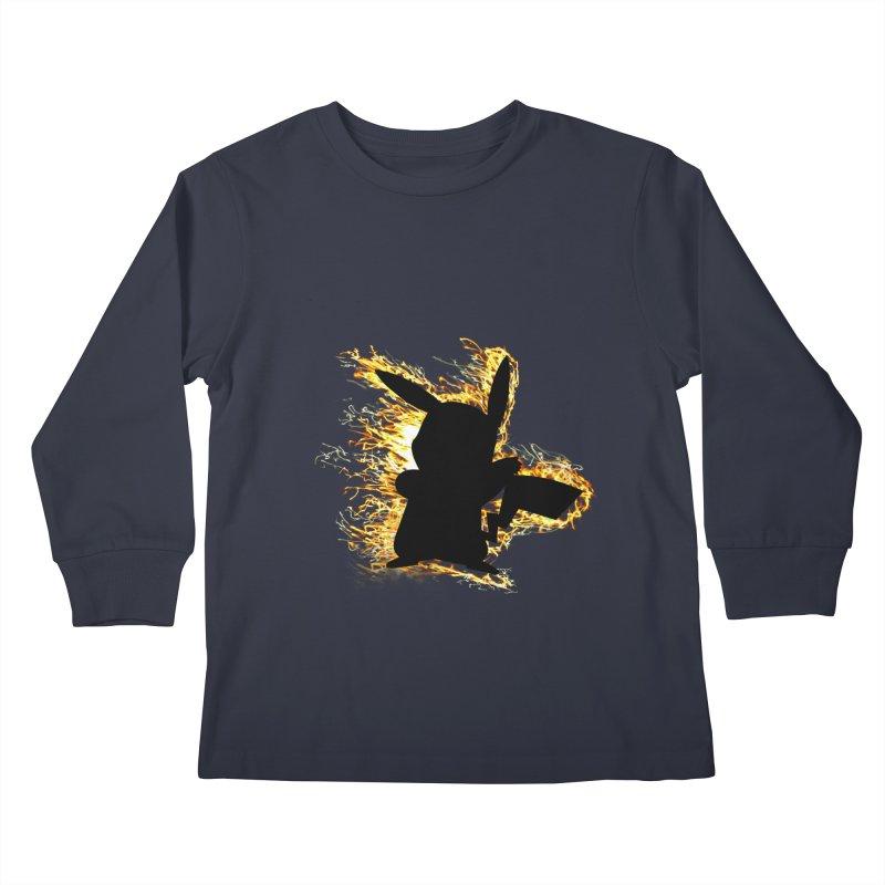 ThunderShock Kids Longsleeve T-Shirt by daniac's Artist Shop