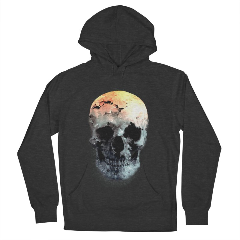 Autumn Skull Women's French Terry Pullover Hoody by daniac's Artist Shop