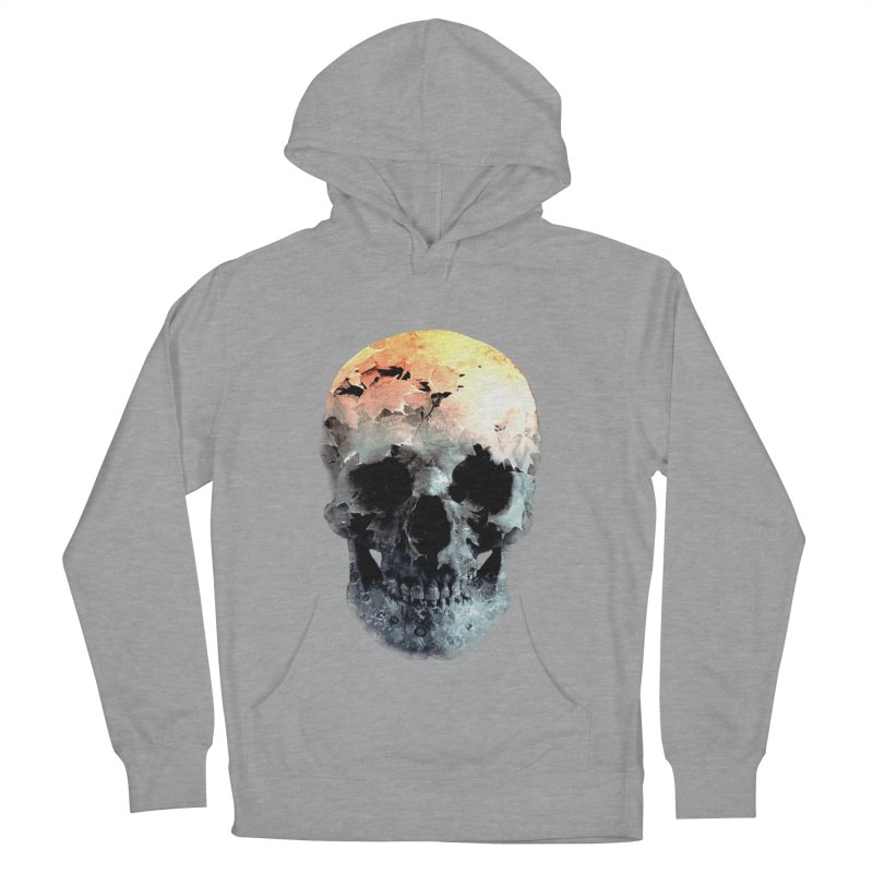 Autumn Skull Men's French Terry Pullover Hoody by daniac's Artist Shop