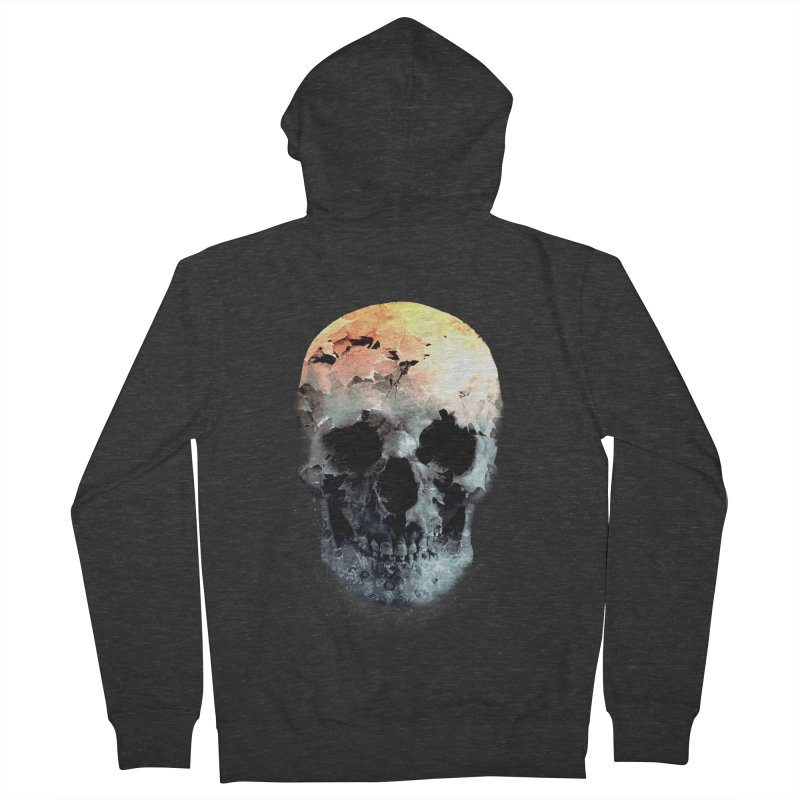 Autumn Skull Men's French Terry Zip-Up Hoody by daniac's Artist Shop