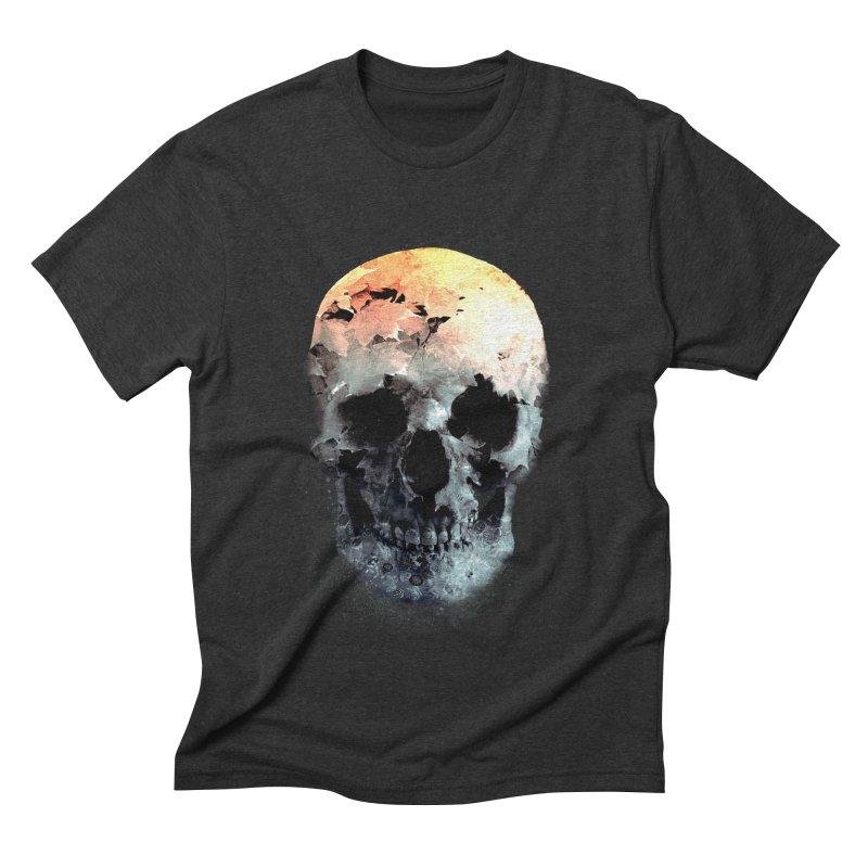 Autumn Skull Men's Triblend T-Shirt by daniac's Artist Shop
