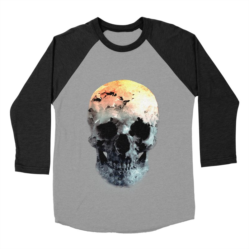 Autumn Skull Women's Baseball Triblend Longsleeve T-Shirt by daniac's Artist Shop