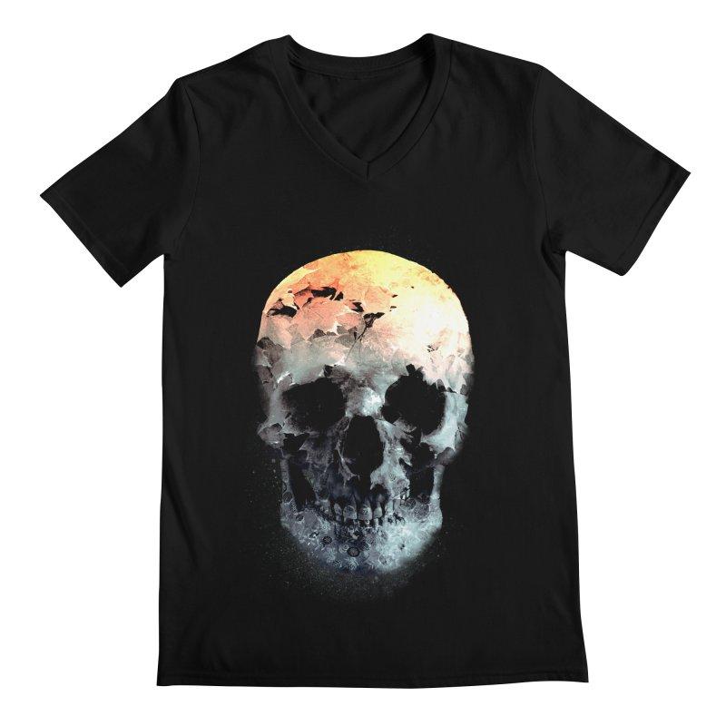 Autumn Skull Men's Regular V-Neck by daniac's Artist Shop