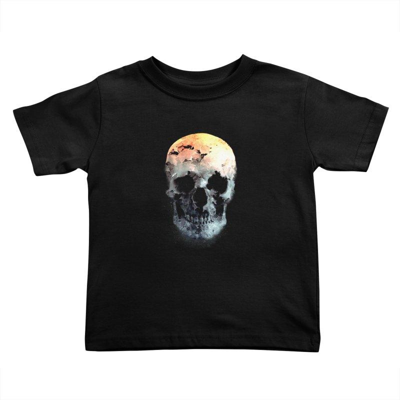 Autumn Skull Kids Toddler T-Shirt by daniac's Artist Shop