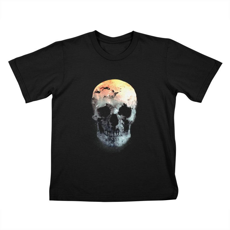 Autumn Skull Kids T-Shirt by daniac's Artist Shop