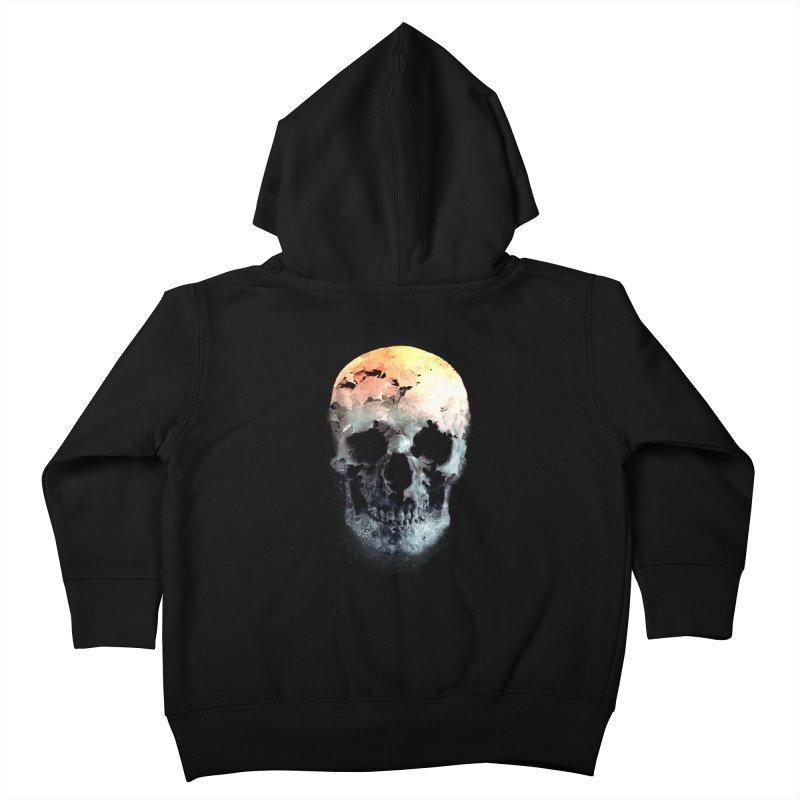Autumn Skull Kids Toddler Zip-Up Hoody by daniac's Artist Shop