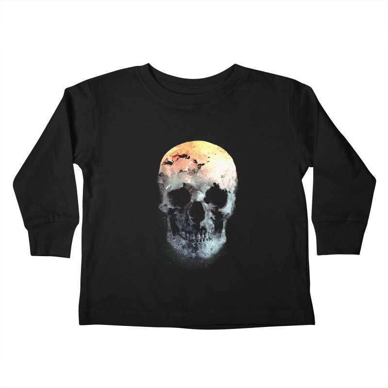 Autumn Skull Kids Toddler Longsleeve T-Shirt by daniac's Artist Shop