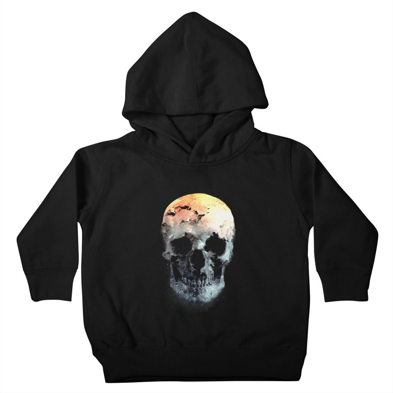 Autumn Skull Kids Toddler Pullover Hoody by daniac's Artist Shop