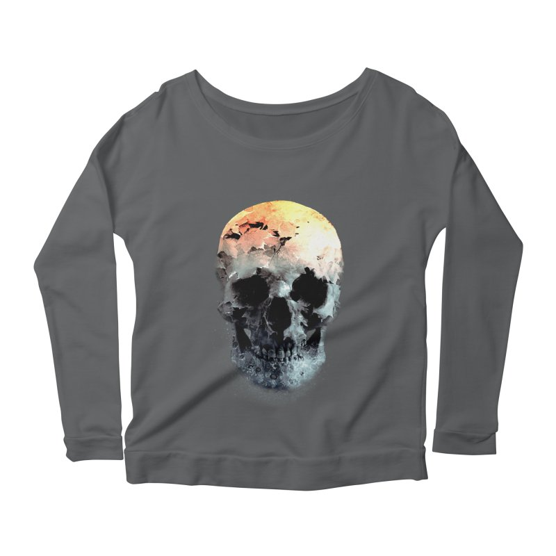 Autumn Skull Women's Scoop Neck Longsleeve T-Shirt by daniac's Artist Shop