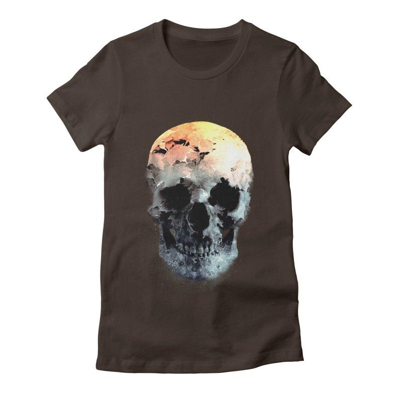 Autumn Skull Women's Fitted T-Shirt by daniac's Artist Shop