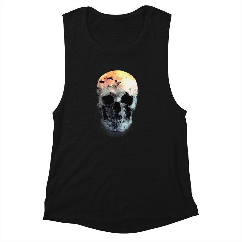 Autumn Skull Women's Muscle Tank by daniac's Artist Shop