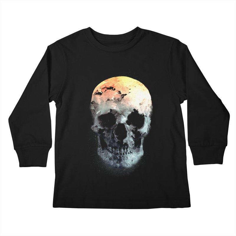 Autumn Skull Kids Longsleeve T-Shirt by daniac's Artist Shop