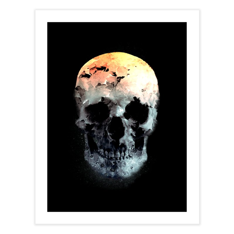 Autumn Skull Home Fine Art Print by daniac's Artist Shop