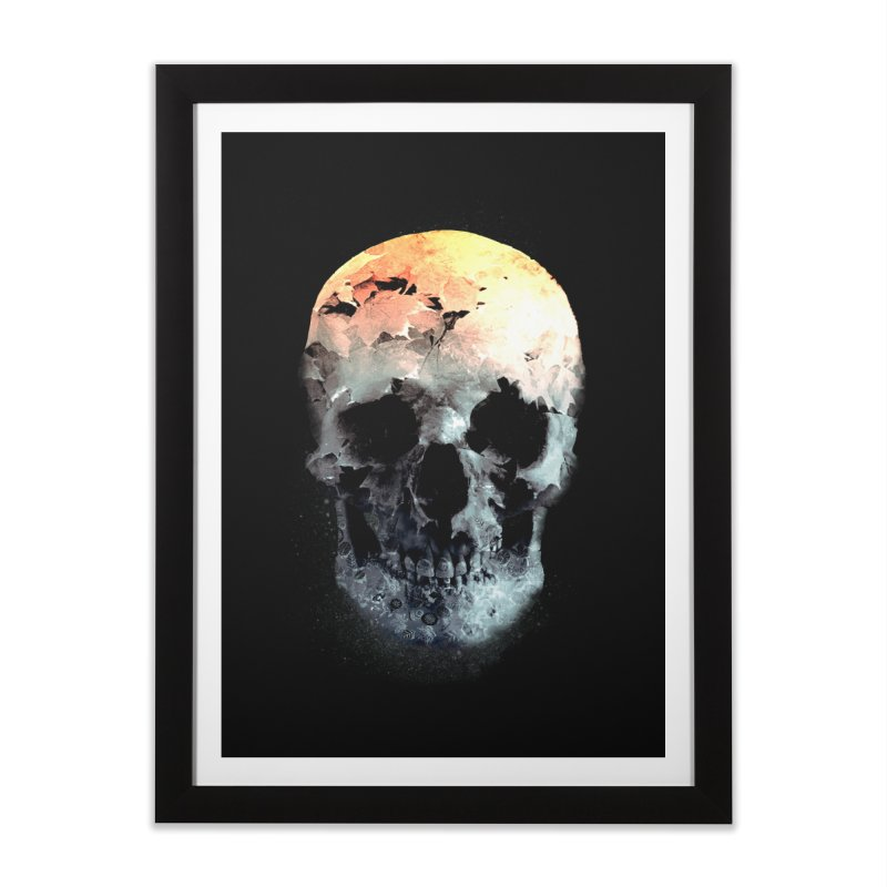Autumn Skull Home Framed Fine Art Print by daniac's Artist Shop