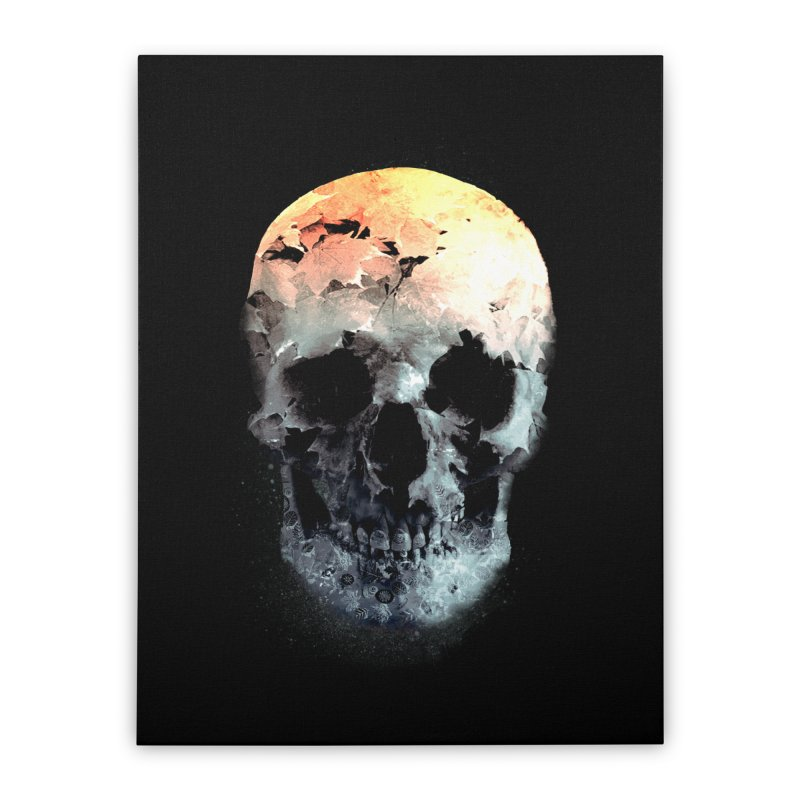 Autumn Skull Home Stretched Canvas by daniac's Artist Shop