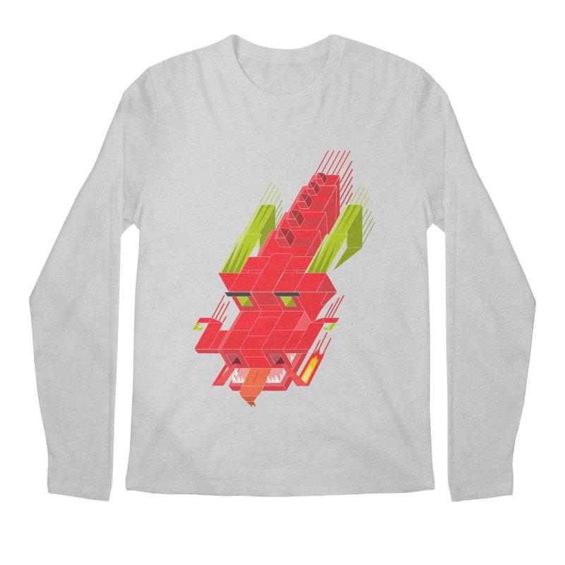 Cube Dragon Men's Regular Longsleeve T-Shirt by daniac's Artist Shop