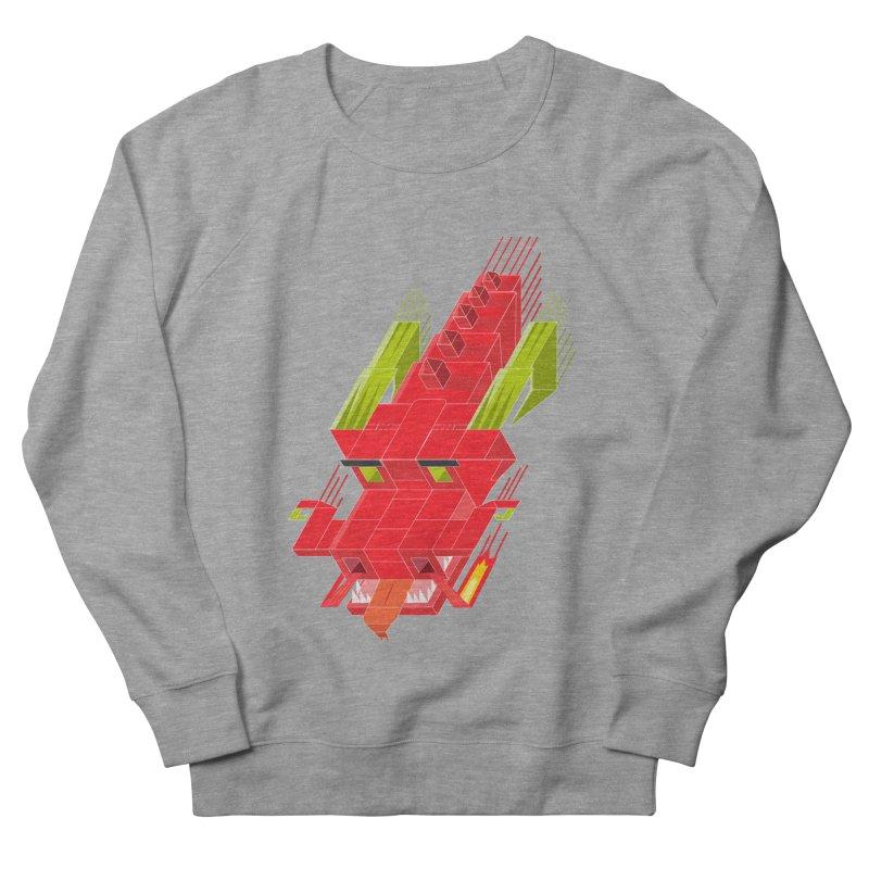 Cube Dragon Men's French Terry Sweatshirt by daniac's Artist Shop