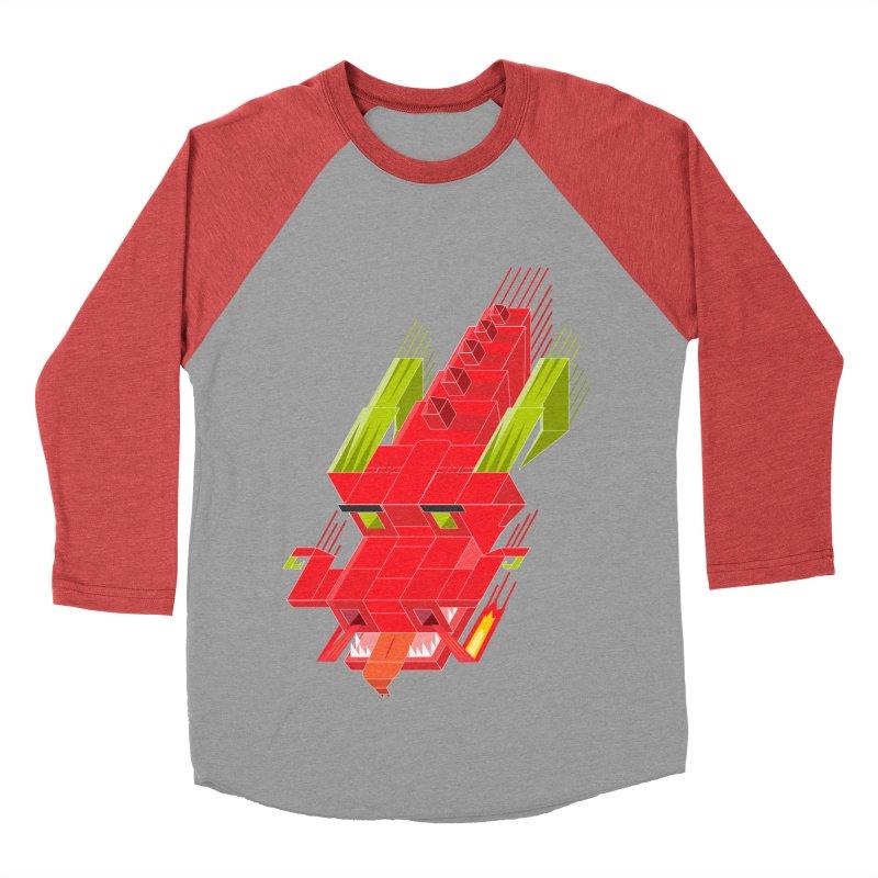 Cube Dragon Men's Baseball Triblend Longsleeve T-Shirt by daniac's Artist Shop