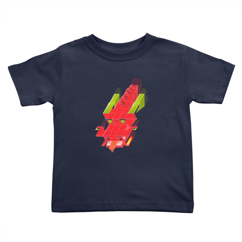 Cube Dragon Kids Toddler T-Shirt by daniac's Artist Shop