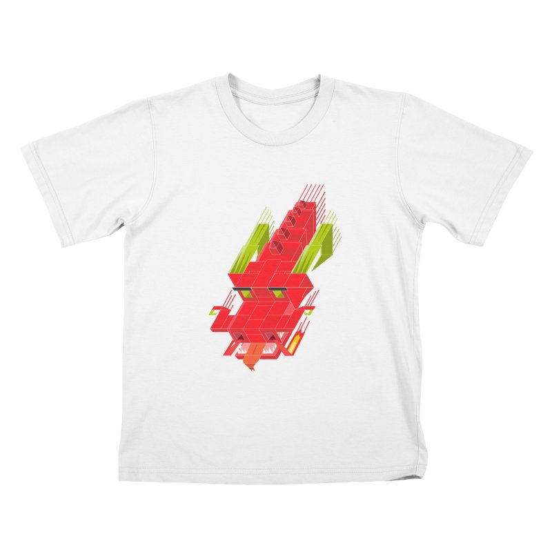 Cube Dragon Kids T-Shirt by daniac's Artist Shop