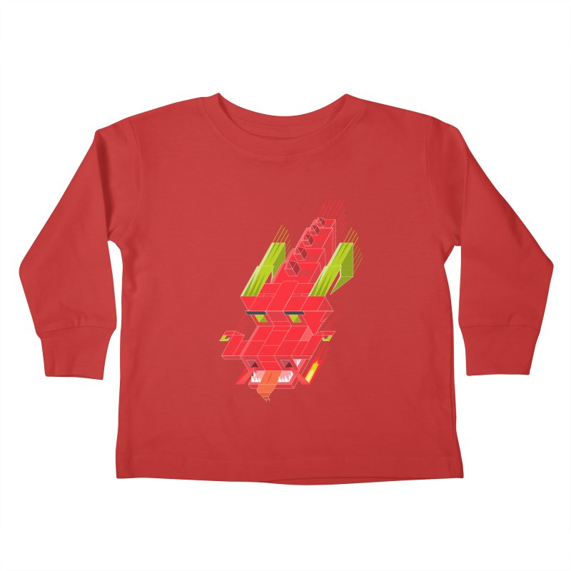Cube Dragon Kids Toddler Longsleeve T-Shirt by daniac's Artist Shop