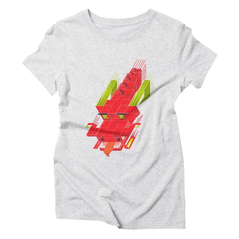 Cube Dragon Women's Triblend T-Shirt by daniac's Artist Shop