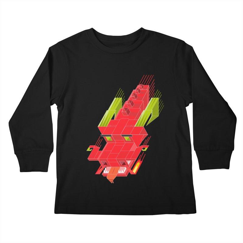 Cube Dragon Kids Longsleeve T-Shirt by daniac's Artist Shop