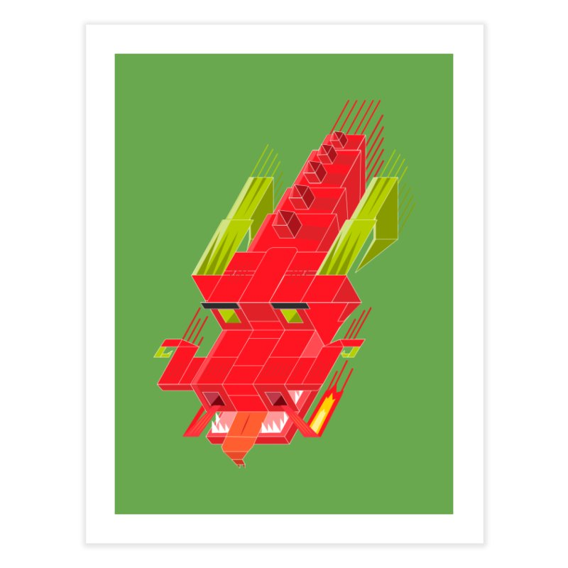 Cube Dragon Home Fine Art Print by daniac's Artist Shop