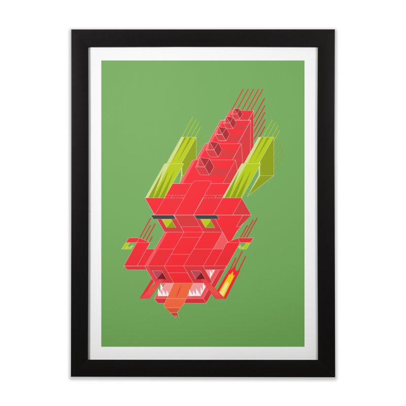 Cube Dragon Home Framed Fine Art Print by daniac's Artist Shop