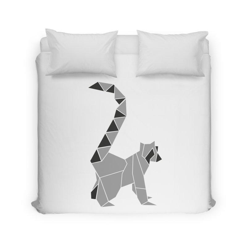 Lemur origami Home Duvet by Synner Design