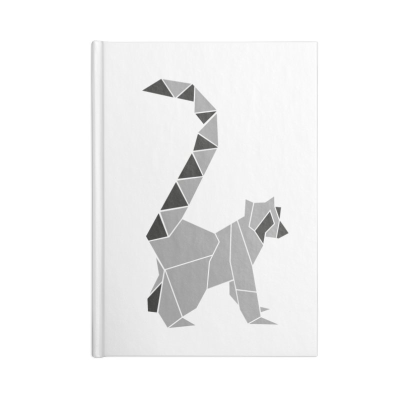 Lemur origami Accessories Lined Journal Notebook by Synner Design