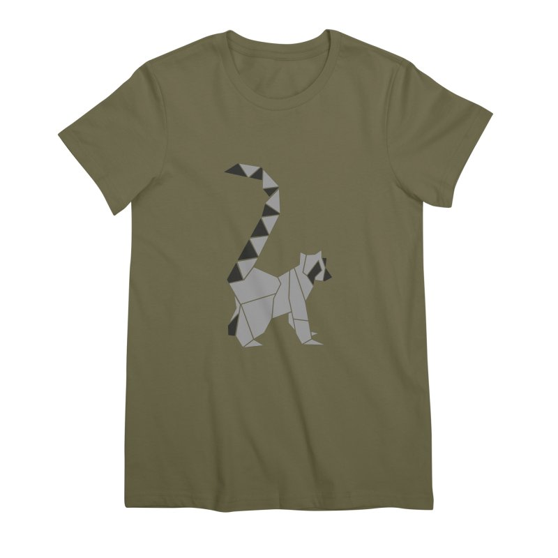 Lemur origami Women's Premium T-Shirt by Synner Design