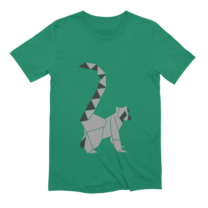 Lemur origami Men's Extra Soft T-Shirt by Synner Design
