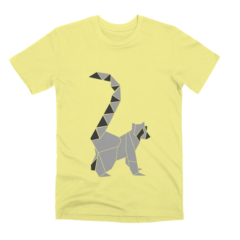 Lemur origami Men's Premium T-Shirt by Synner Design