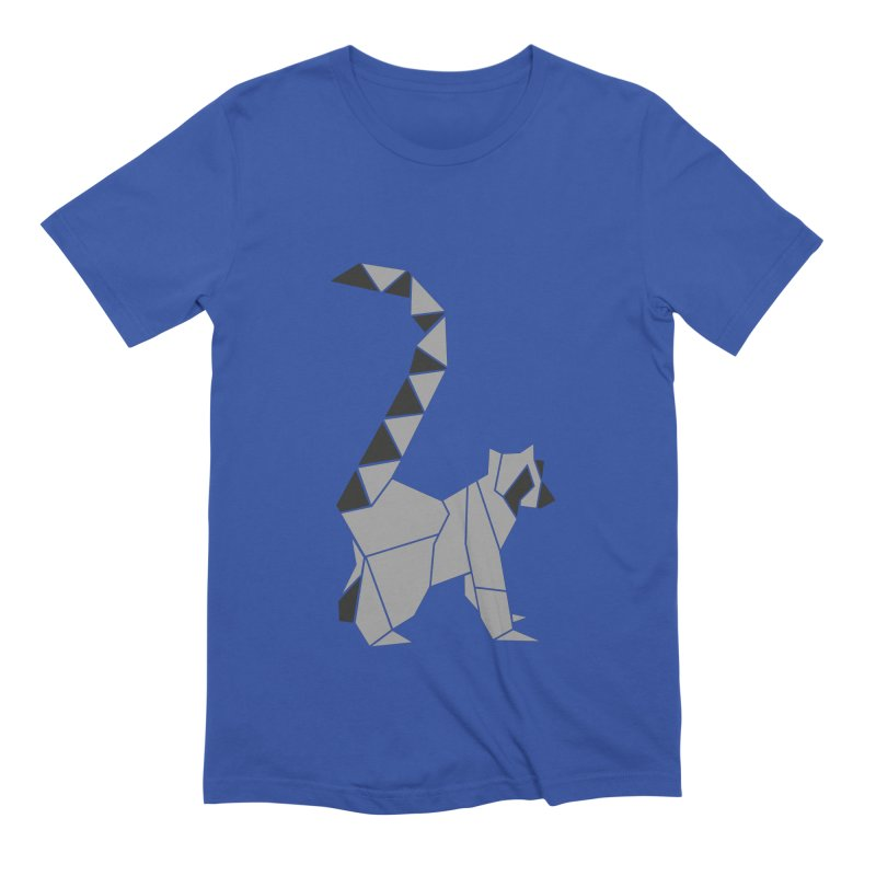 Lemur origami Men's Extra Soft T-Shirt by Synner Design