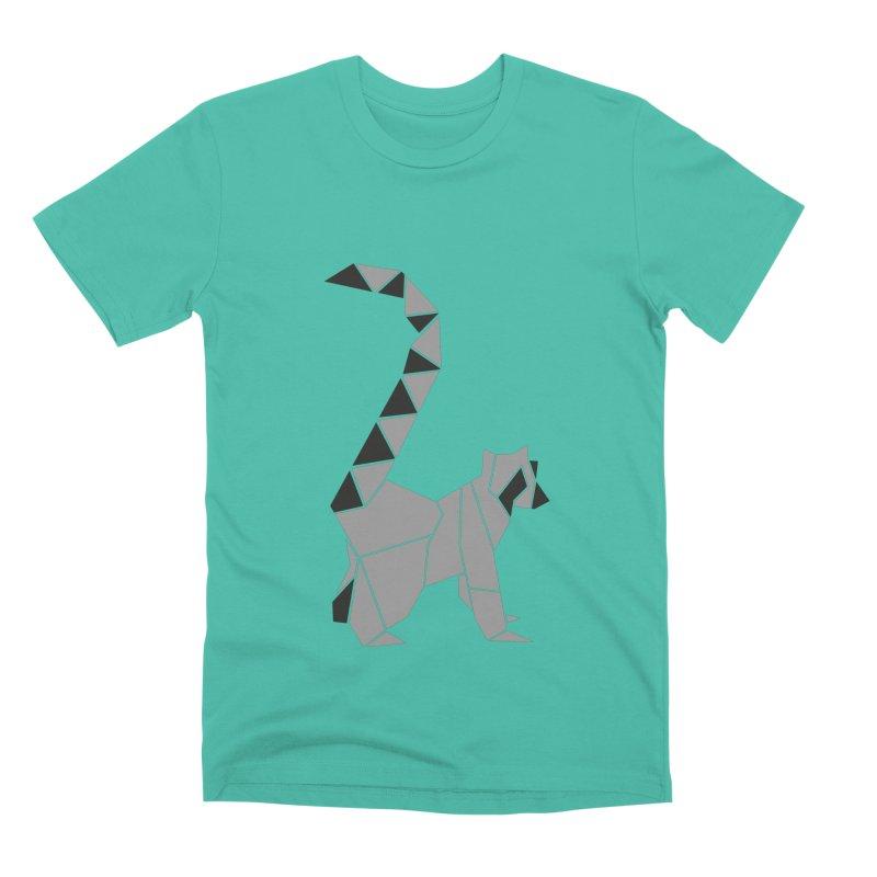 Lemur origami Men's Premium T-Shirt by Synner Design