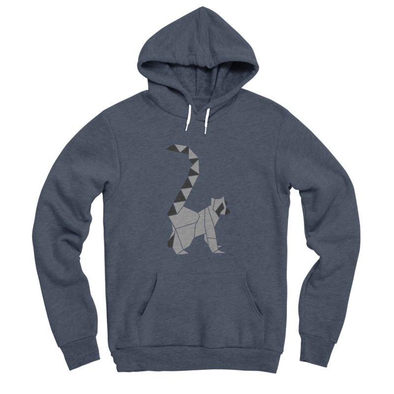Lemur origami Men's Sponge Fleece Pullover Hoody by Synner Design