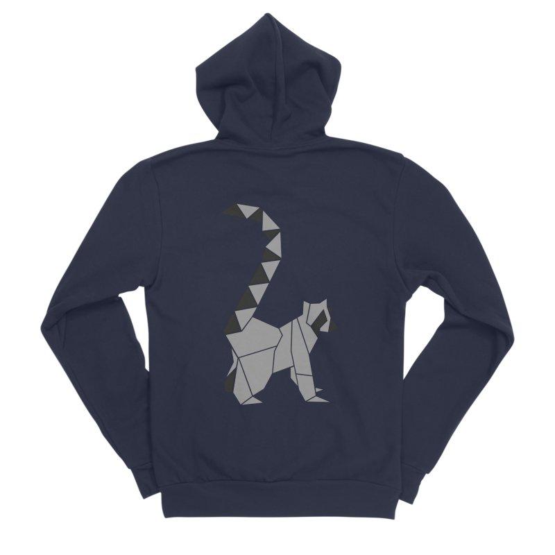 Lemur origami Men's Sponge Fleece Zip-Up Hoody by Synner Design