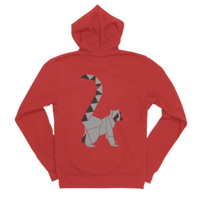 Lemur origami Men's Zip-Up Hoody by Synner Design
