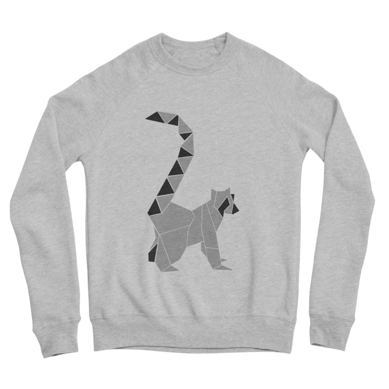 Lemur origami Women's Sponge Fleece Sweatshirt by Synner Design