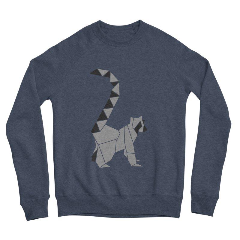 Lemur origami Men's Sponge Fleece Sweatshirt by Synner Design
