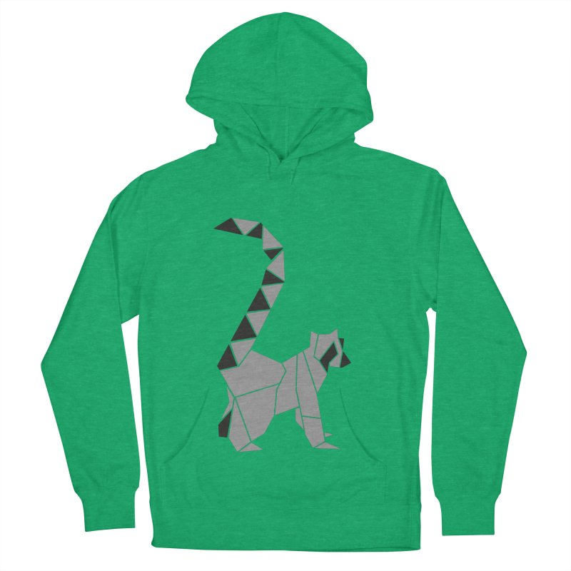 Lemur origami Women's French Terry Pullover Hoody by Synner Design