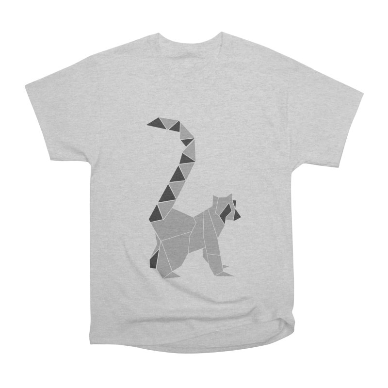 Lemur origami Women's Heavyweight Unisex T-Shirt by Synner Design