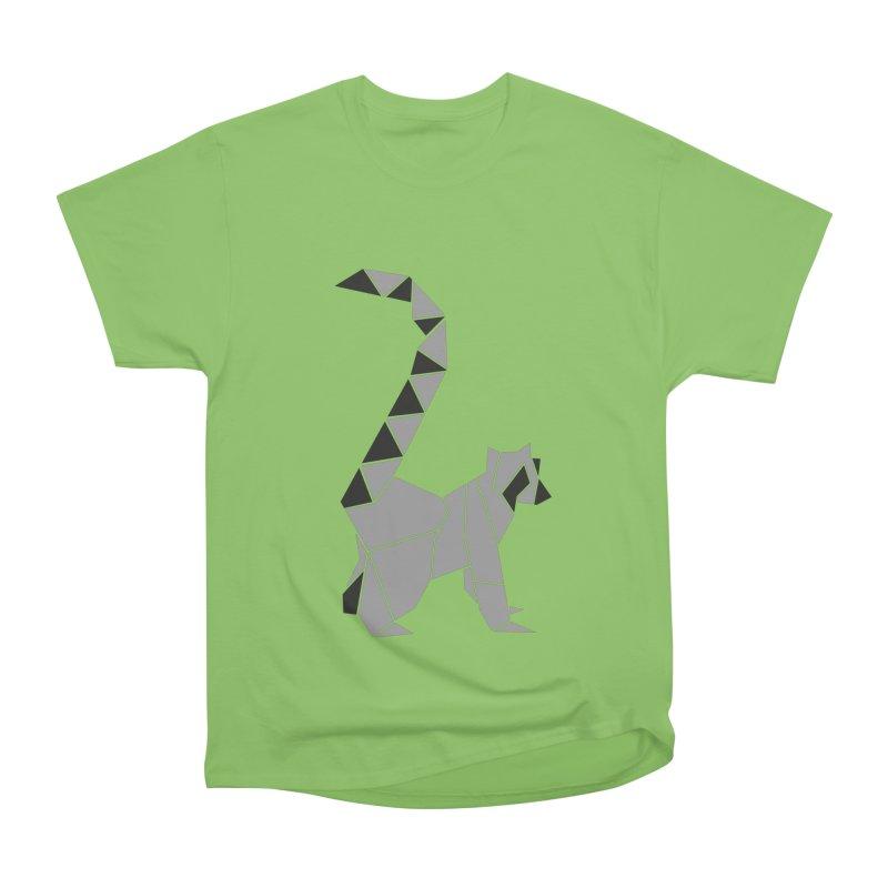 Lemur origami Men's Heavyweight T-Shirt by Synner Design