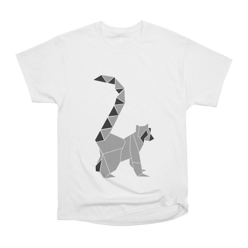 Lemur origami Women's Heavyweight Unisex T-Shirt by Synner Design