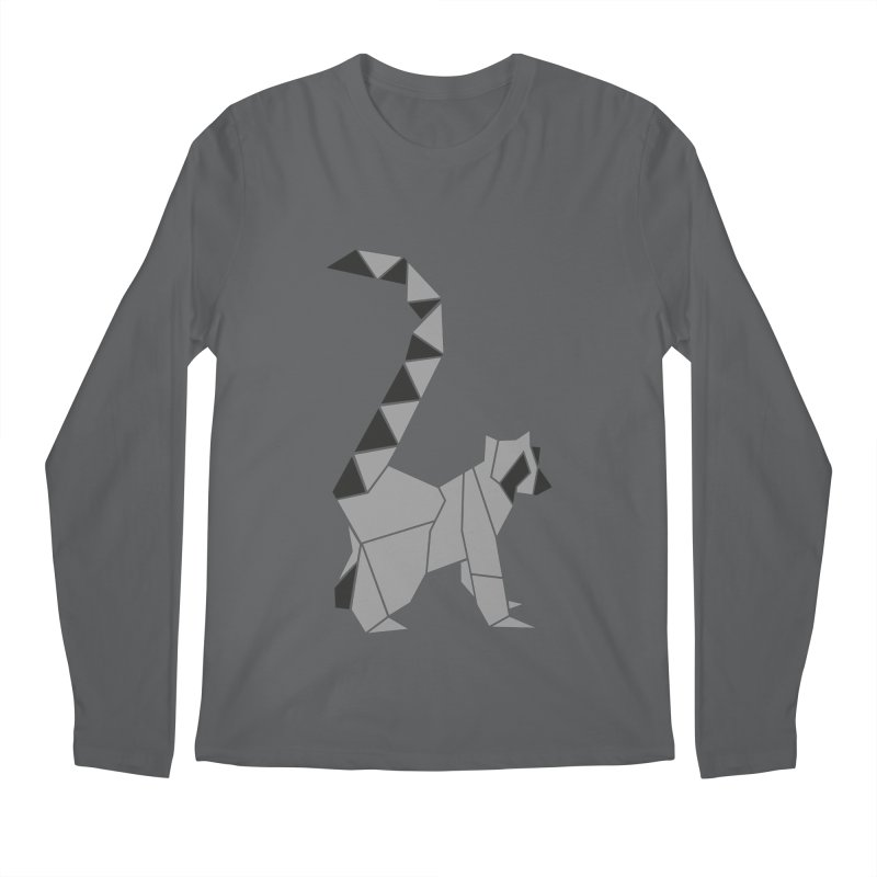 Lemur origami Men's Regular Longsleeve T-Shirt by Synner Design