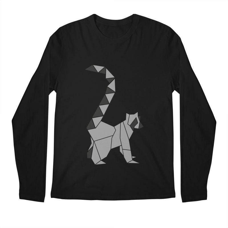 Lemur origami Men's Regular Longsleeve T-Shirt by Synner Design